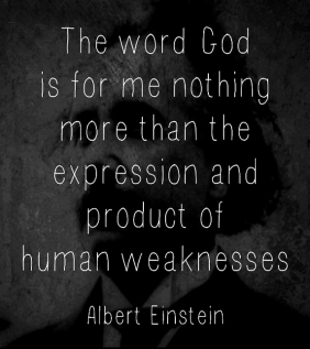 Albert Einstein God quote